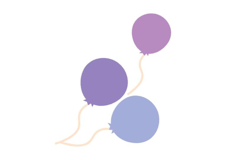 風船 紫色 イラスト 無料