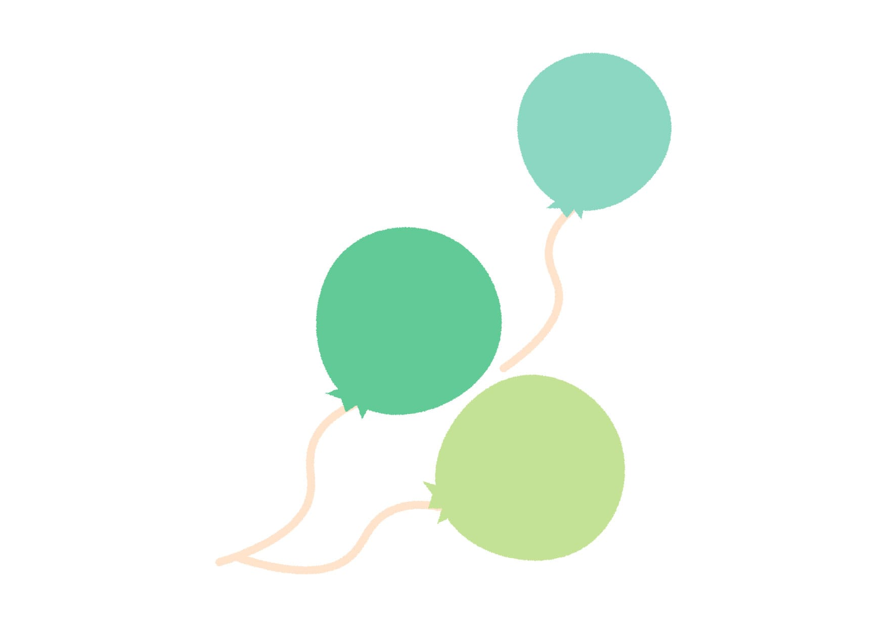 風船 緑色 イラスト 無料