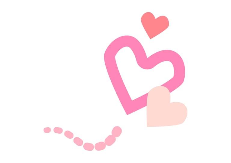 ハート 飛ぶ ピンク イラスト 無料
