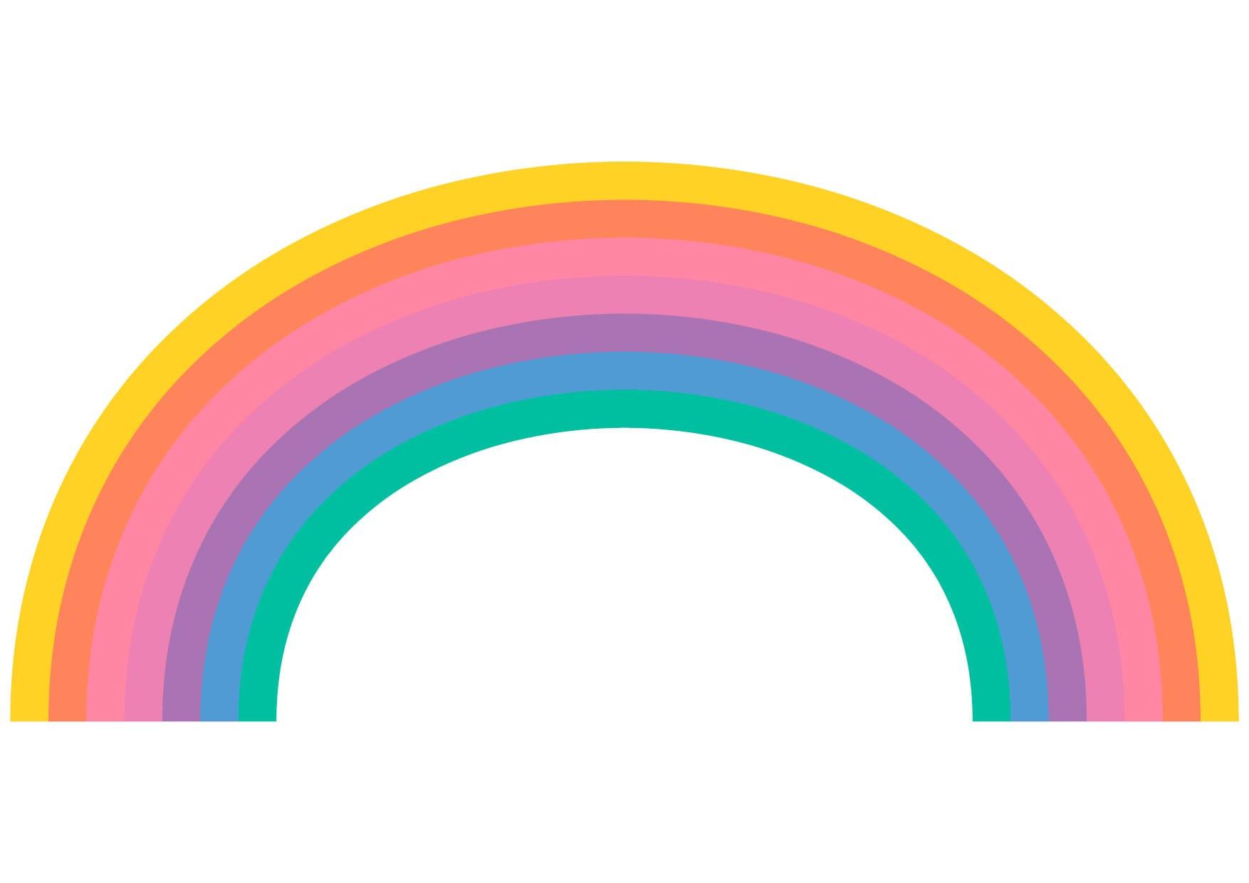可愛いイラスト無料|虹 − free illustration Rainbow