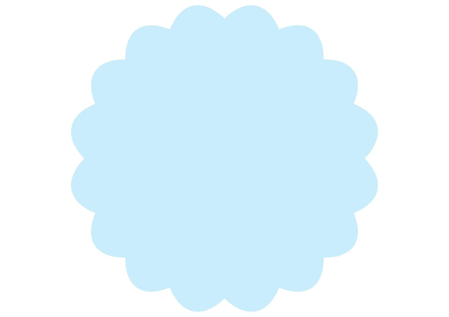 可愛いイラスト無料|シンプル やわらかい フレーム 水色 − free illustration Simple soft frame light blue