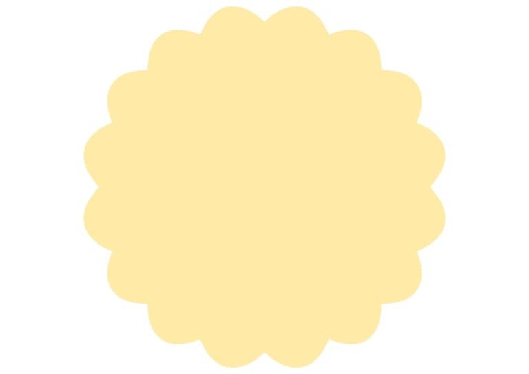 シンプル やわらかい フレーム 黄色 イラスト 無料