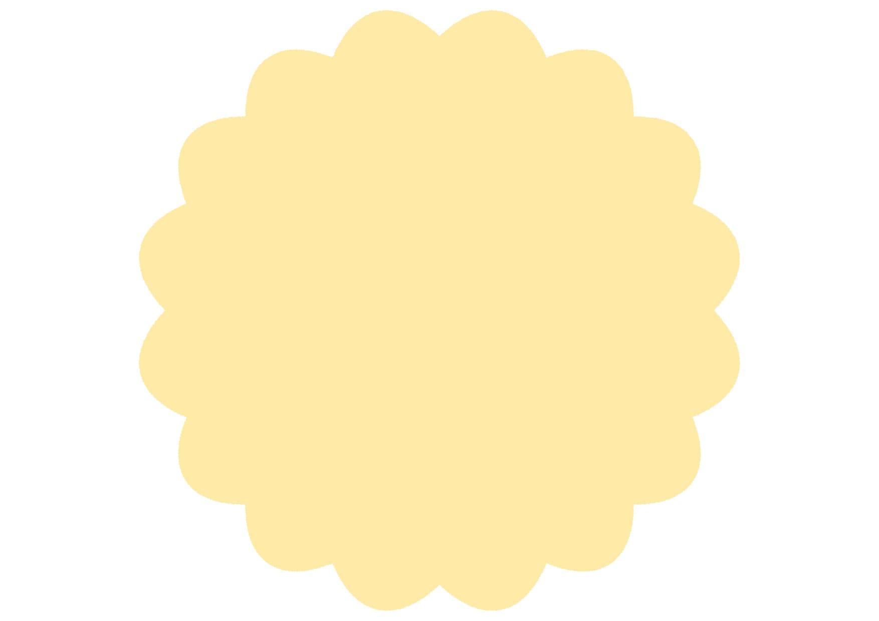 可愛いイラスト無料|シンプル やわらかい フレーム 黄色 − free illustration Simple soft frame yellow