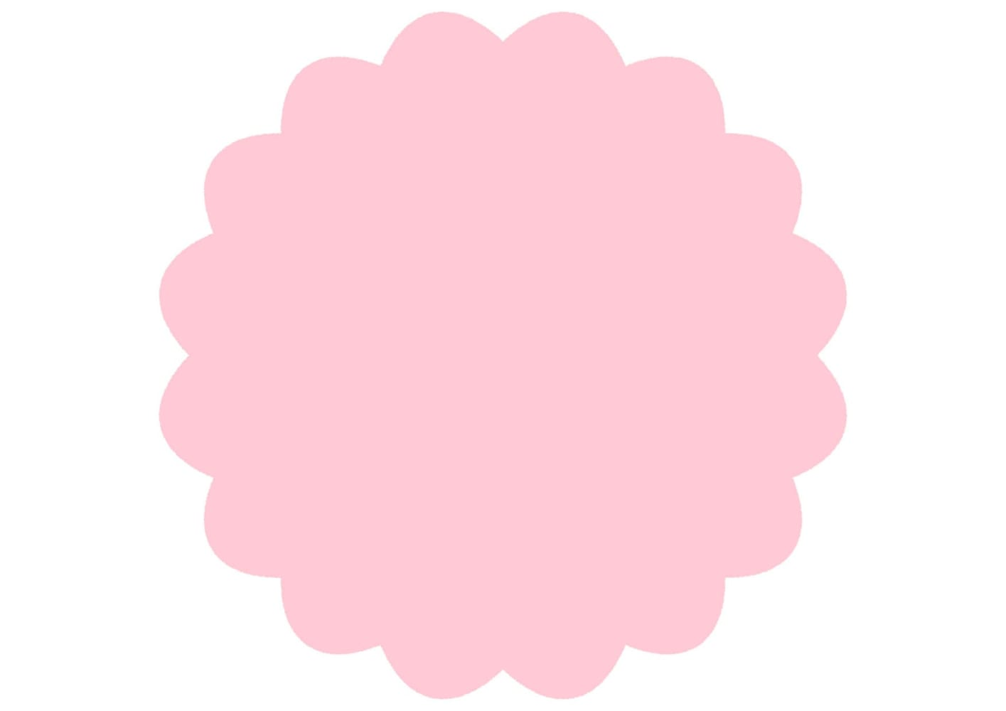 シンプル やわらかい フレーム ピンク イラスト 無料