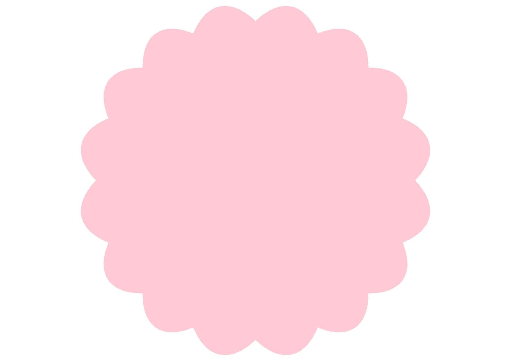 可愛いイラスト無料|シンプル やわらかい フレーム ピンク − free illustration Simple soft frame pink