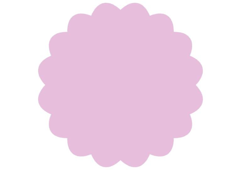 シンプル やわらかい フレーム 紫色 イラスト 無料