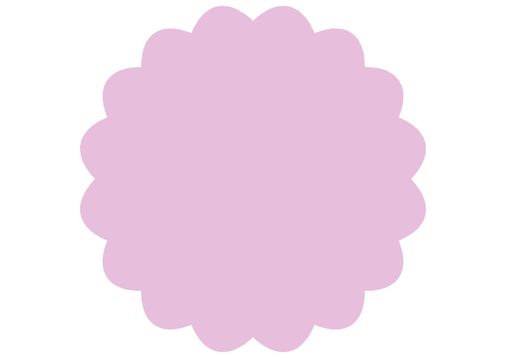 可愛いイラスト無料|シンプル やわらかい フレーム 紫色 − free illustration  Simple soft frame purple