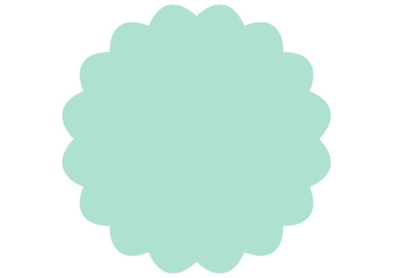 シンプル やわらかい フレーム 緑色 イラスト 無料
