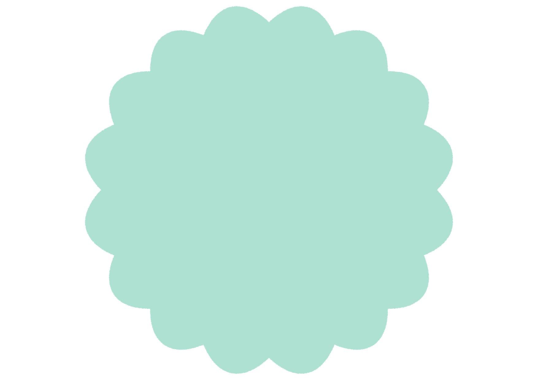 可愛いイラスト|シンプル やわらかい フレーム 緑色 − free illustration  Simple soft frame green