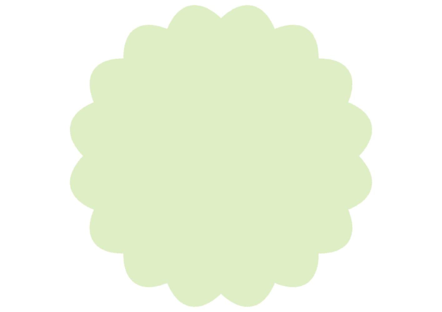 シンプル やわらかい フレーム 薄緑色 イラスト 無料