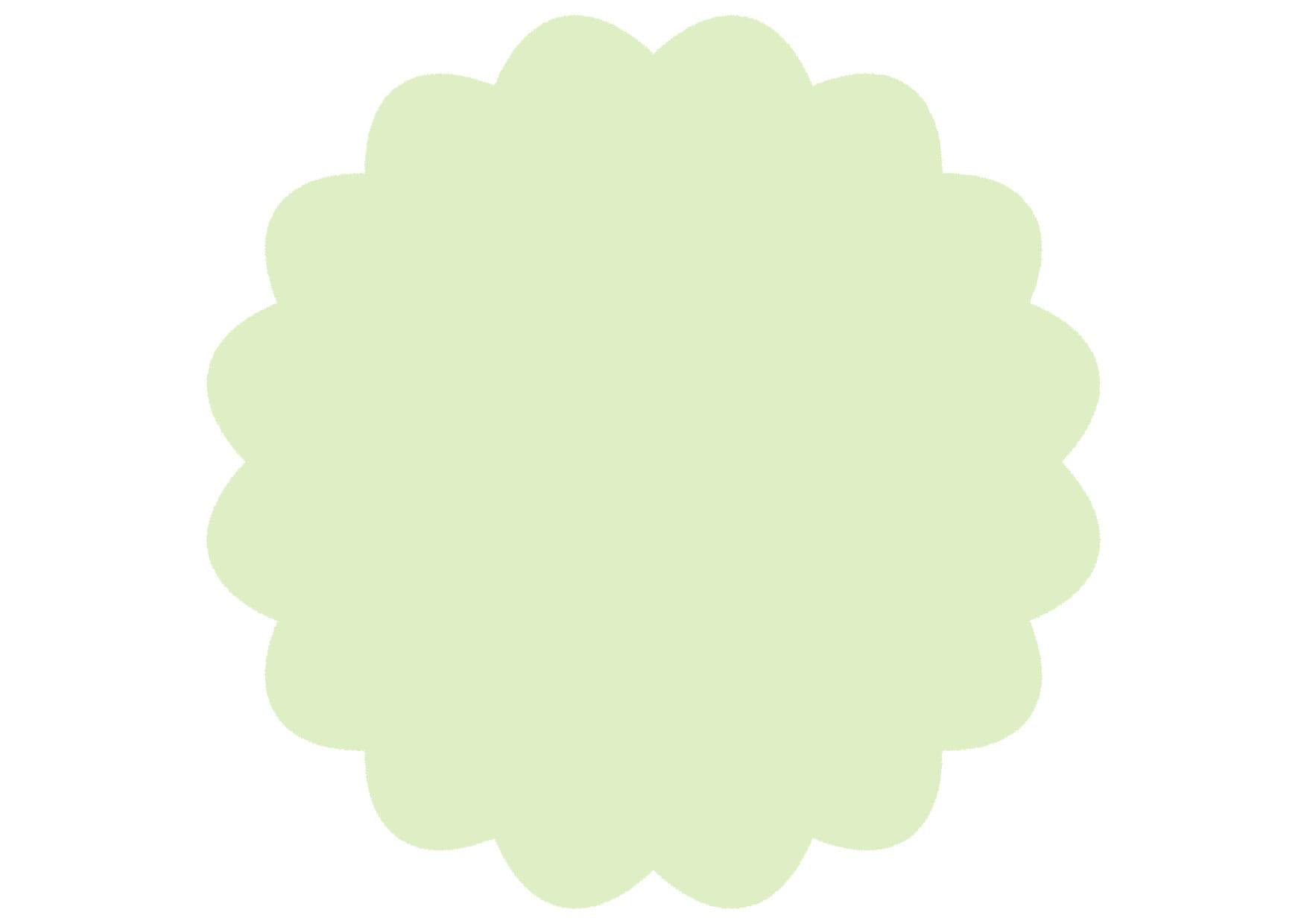 可愛いイラスト無料|シンプル やわらかい フレーム 薄緑色 − free illustration  Simple soft frame light green