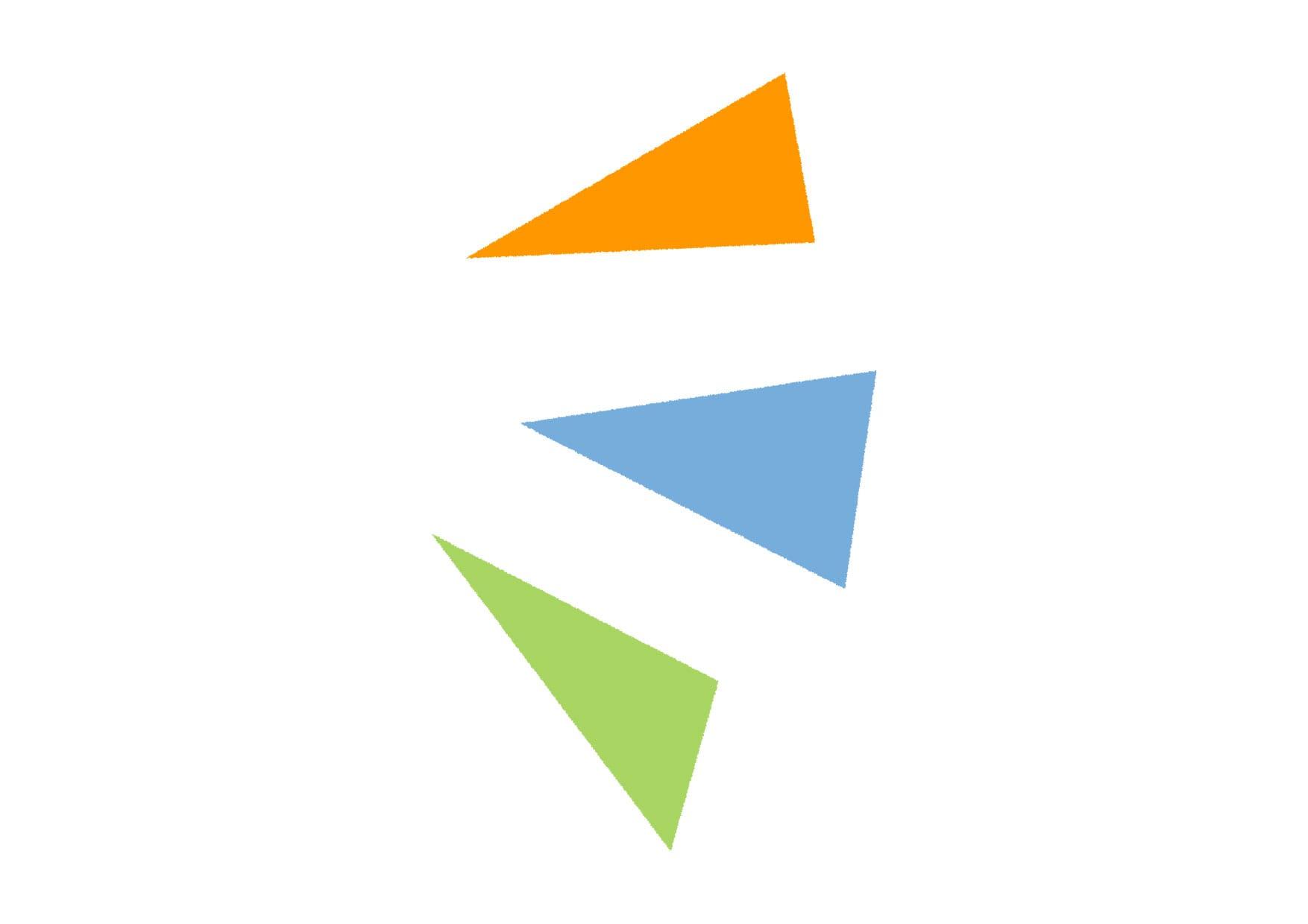 可愛いイラスト無料|気づき アイコン 右 カラフル − free illustration Triangle icon right colorful