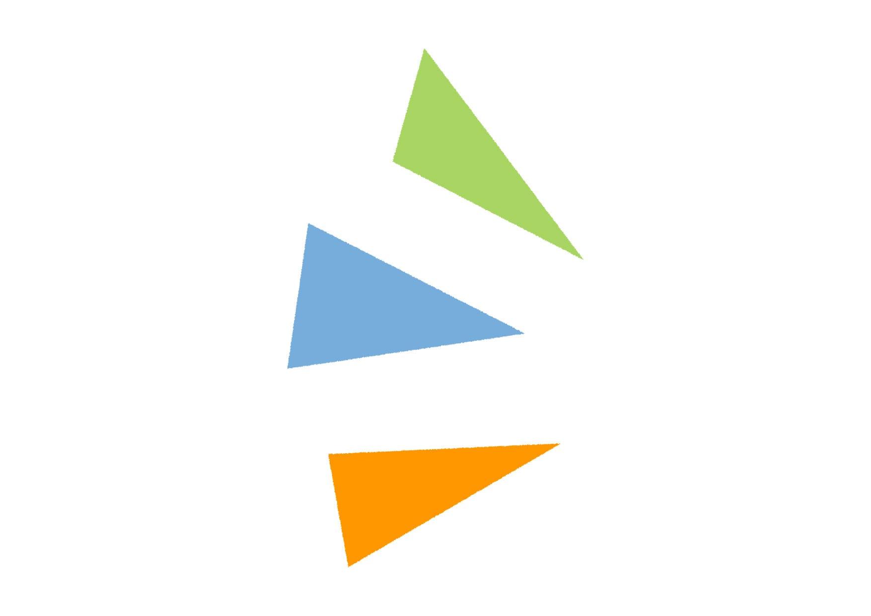 可愛いイラスト無料|気づき アイコン 左 カラフル − free illustration Triangle icon left colorful