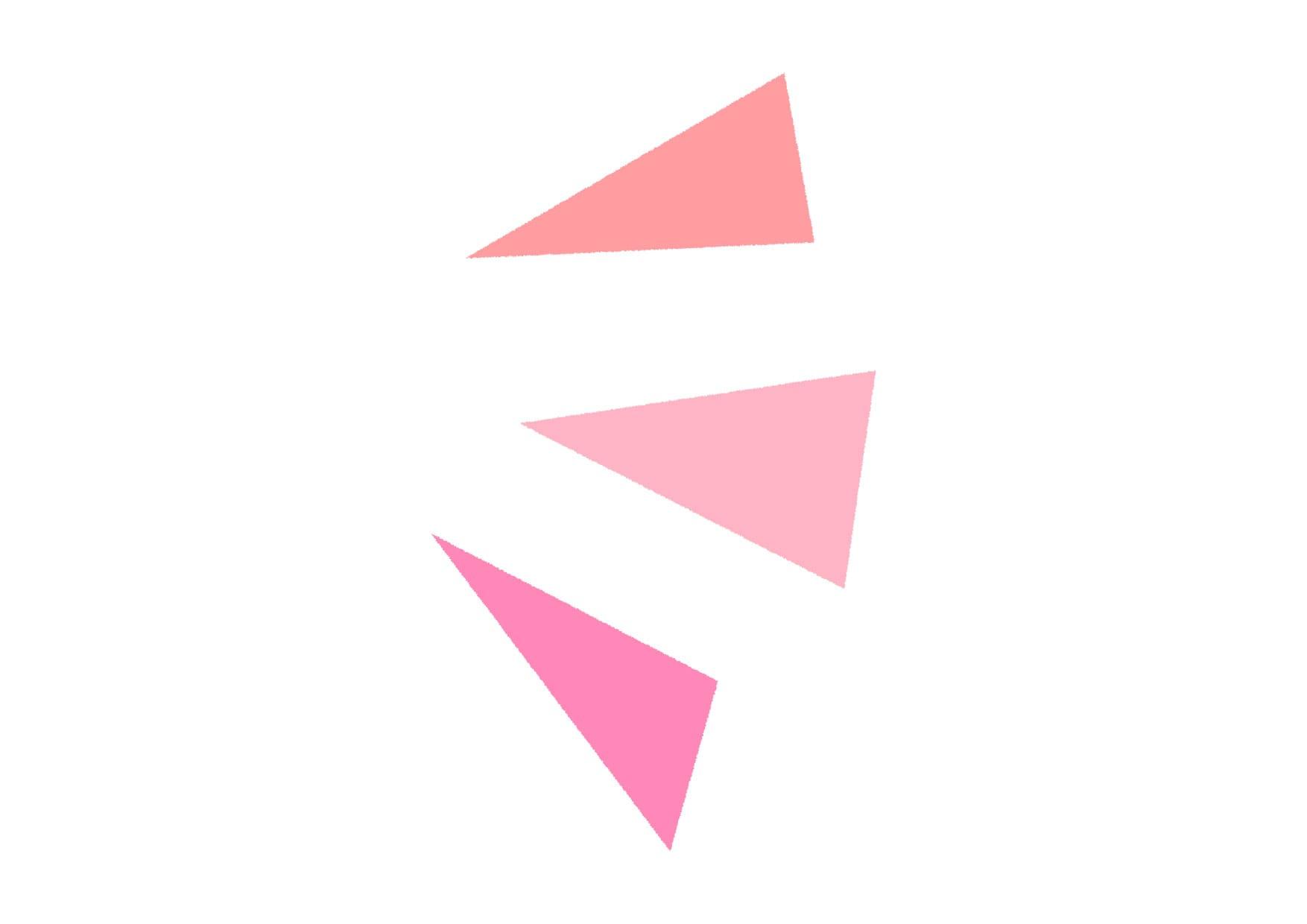 可愛いイラスト無料|気づき アイコン 右 ピンク − free illustration  Triangle icon right pink