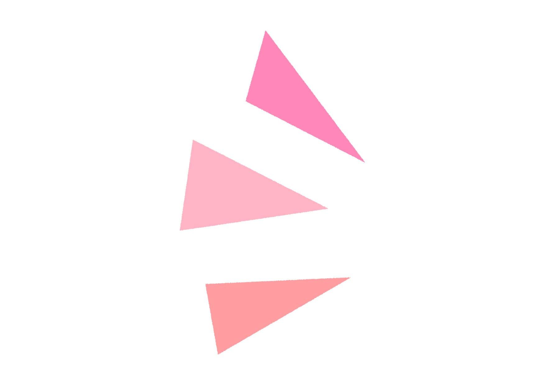可愛いイラスト無料|気づき アイコン 左 ピンク − free illustration Triangle icon left pink