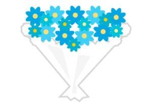 花束 青色 イラスト 無料