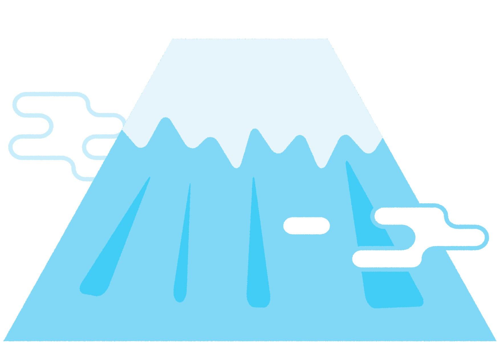 可愛いイラスト無料|富士山 ポップ − free illustration  Mt. Fuji