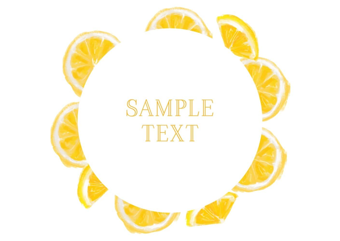 手書き オレンジ 円フレーム イラスト 無料