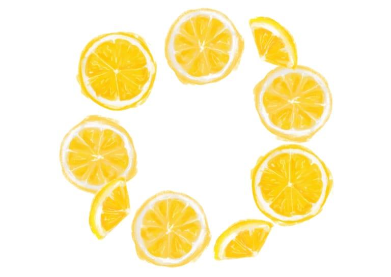 手書き オレンジ 円フレーム イラスト 無料2