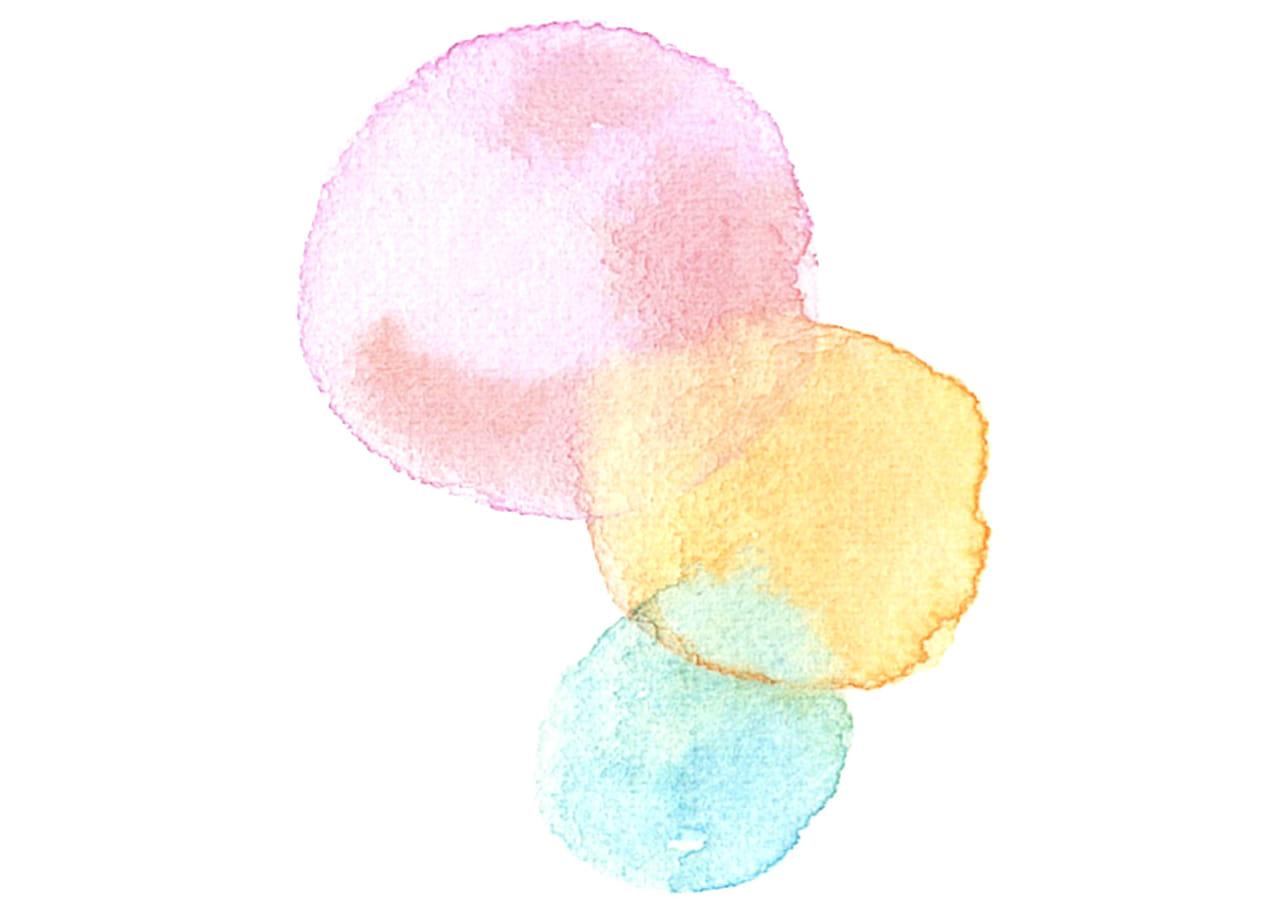 可愛いイラスト無料|水彩 背景 にじみ 3色