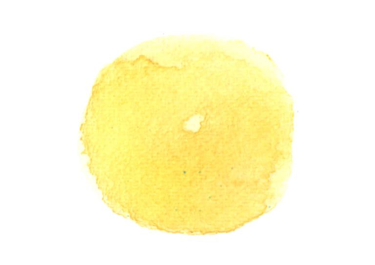 水彩 背景 円 黄色 にじみ イラスト 無料