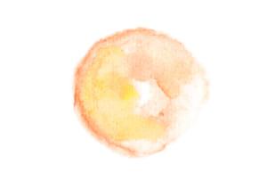水彩 背景 円 オレンジ色 にじみ イラスト 無料2