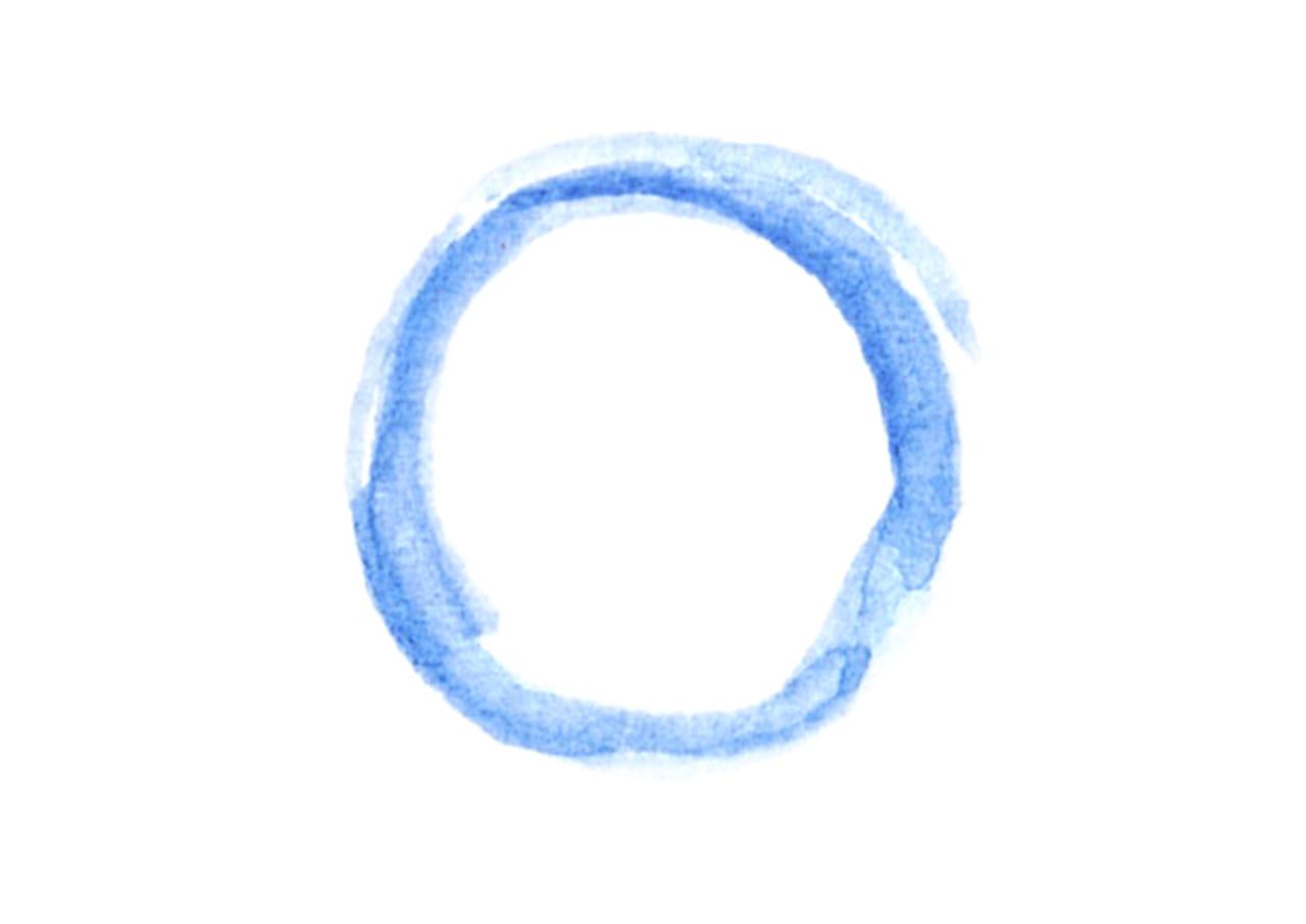 可愛いイラスト無料|水彩 背景 円 線 青色 小