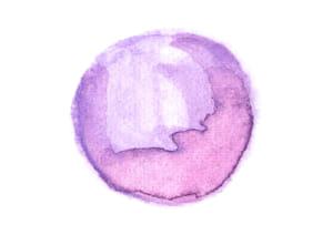 水彩 背景 円 紫色 光沢 にじみ イラスト 無料