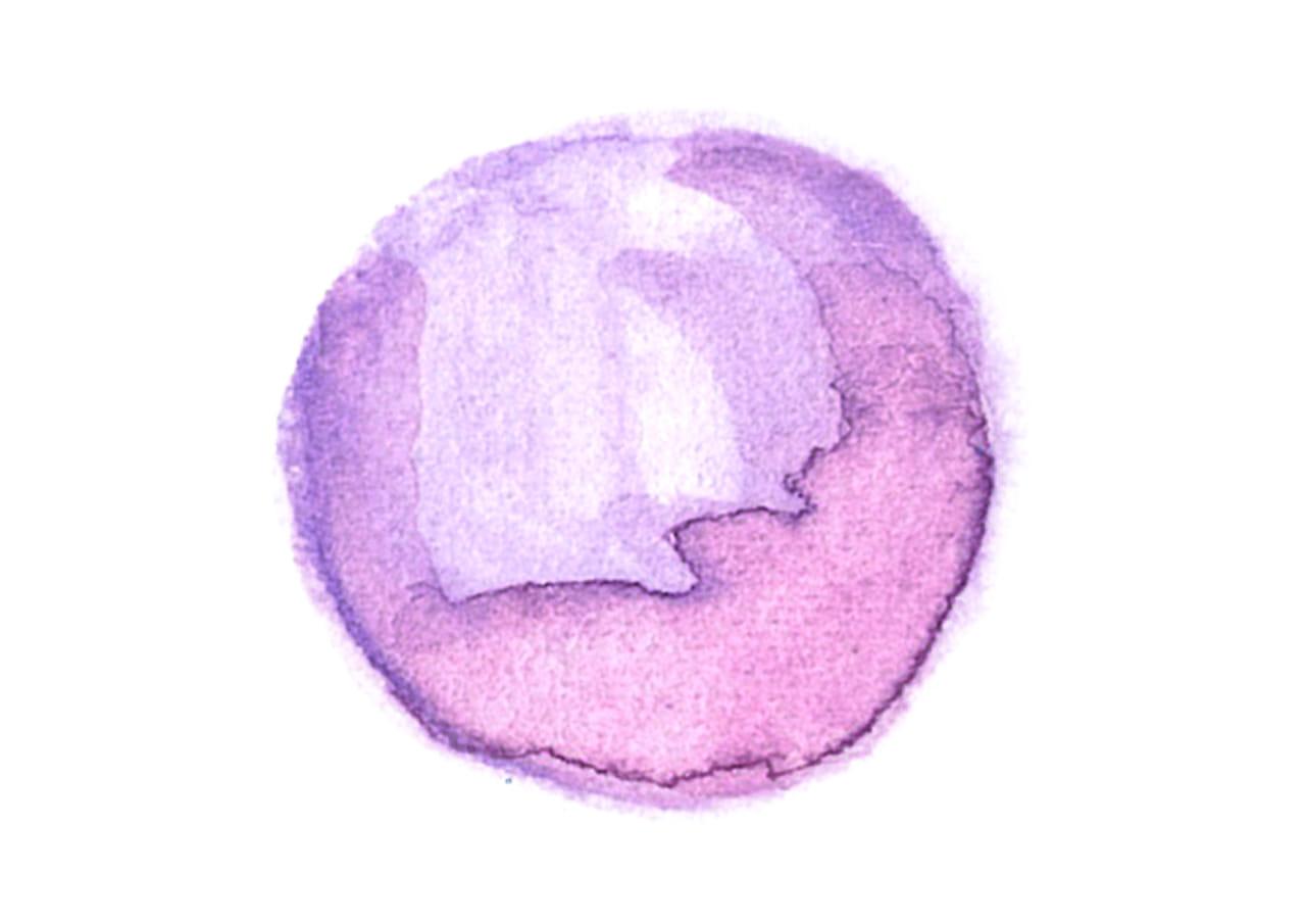 可愛いイラスト無料|水彩 背景 円 紫色 光沢 にじみ