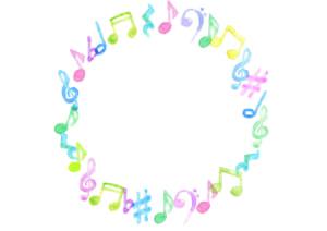 音符 音楽 フレーム イラスト 無料