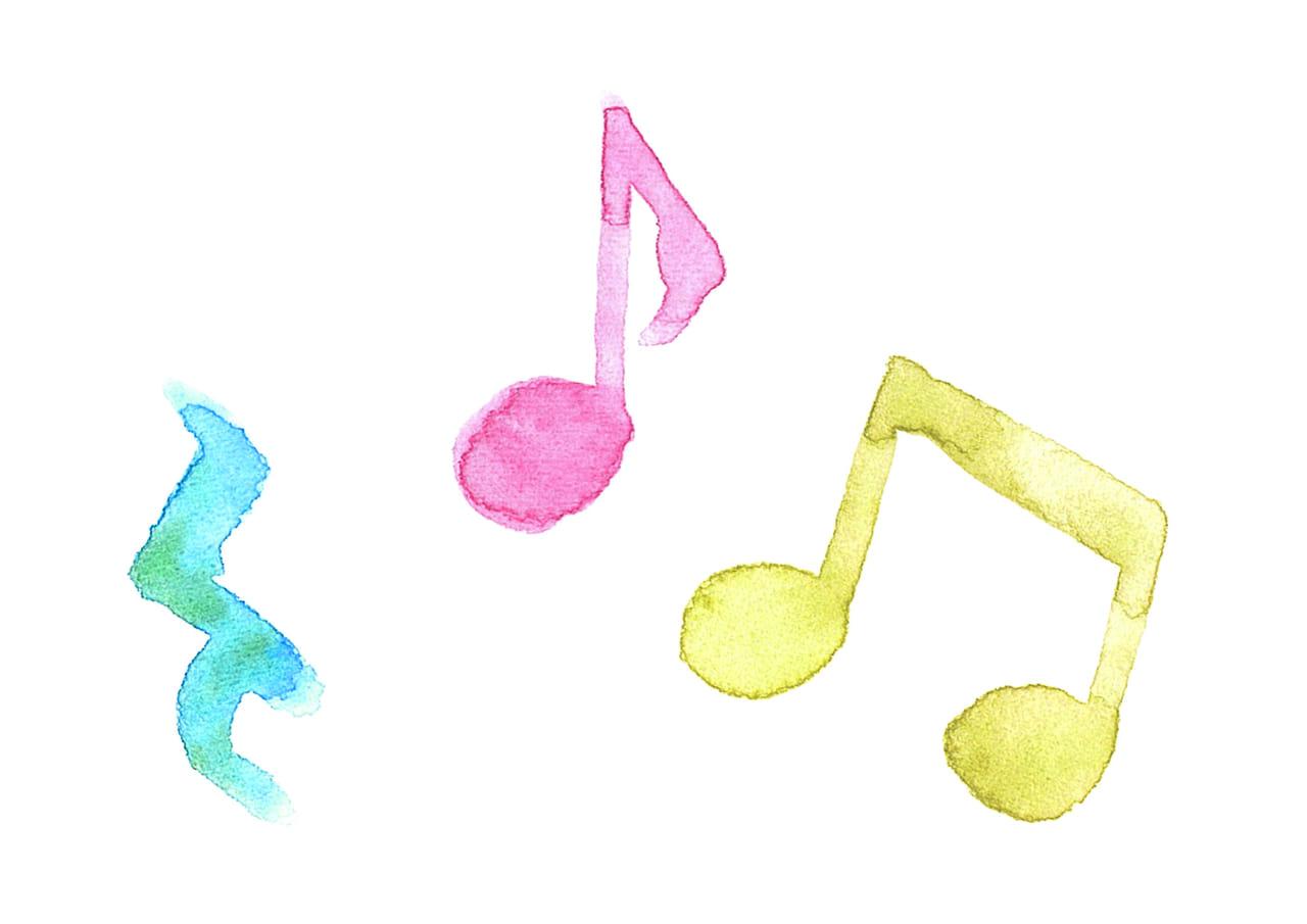 可愛いイラスト無料|音符 音楽