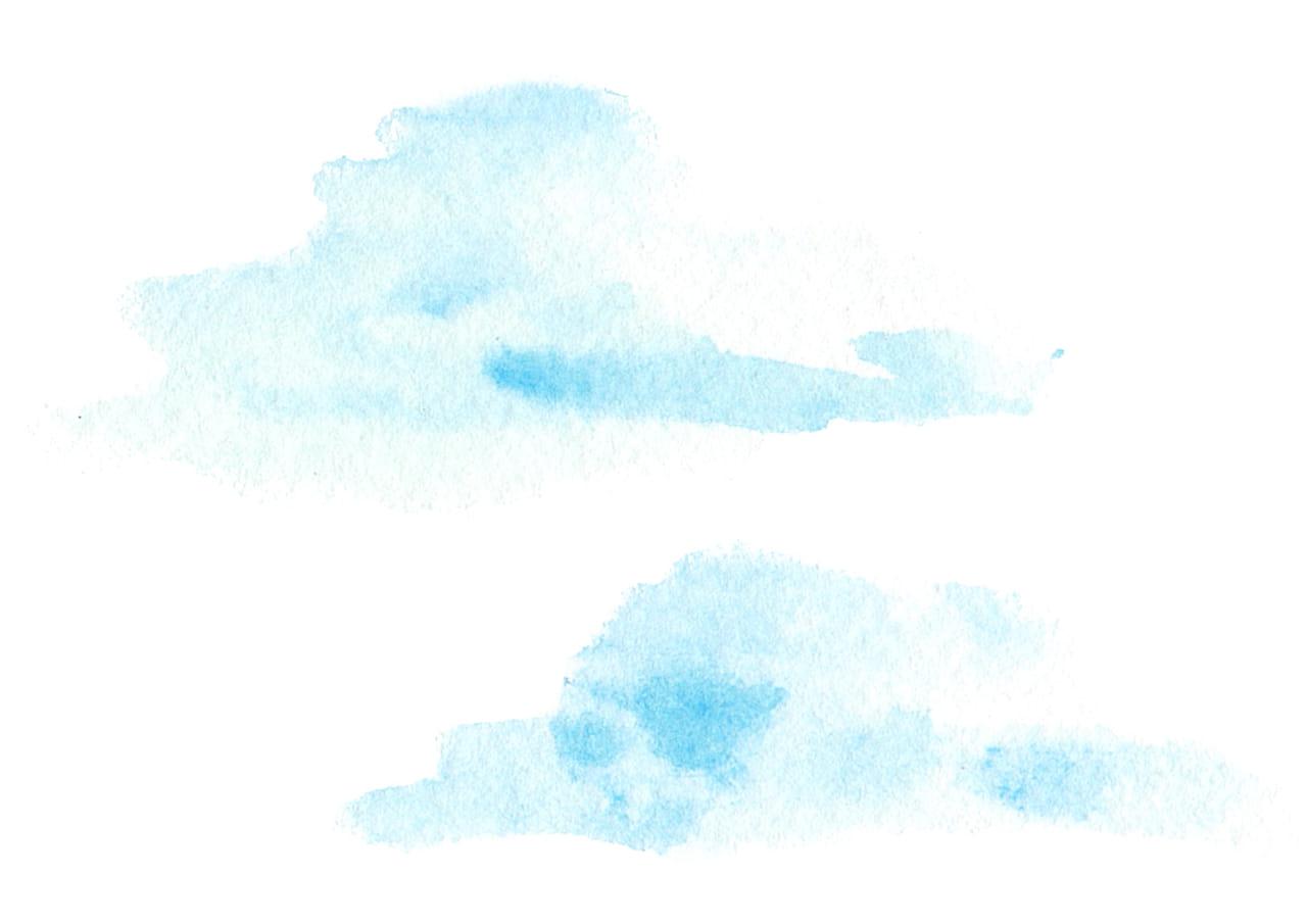可愛いイラスト無料|水彩 雲