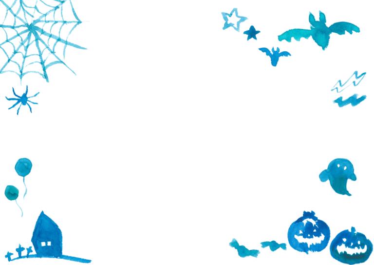 水彩 ハロウィン 背景 イラスト 無料