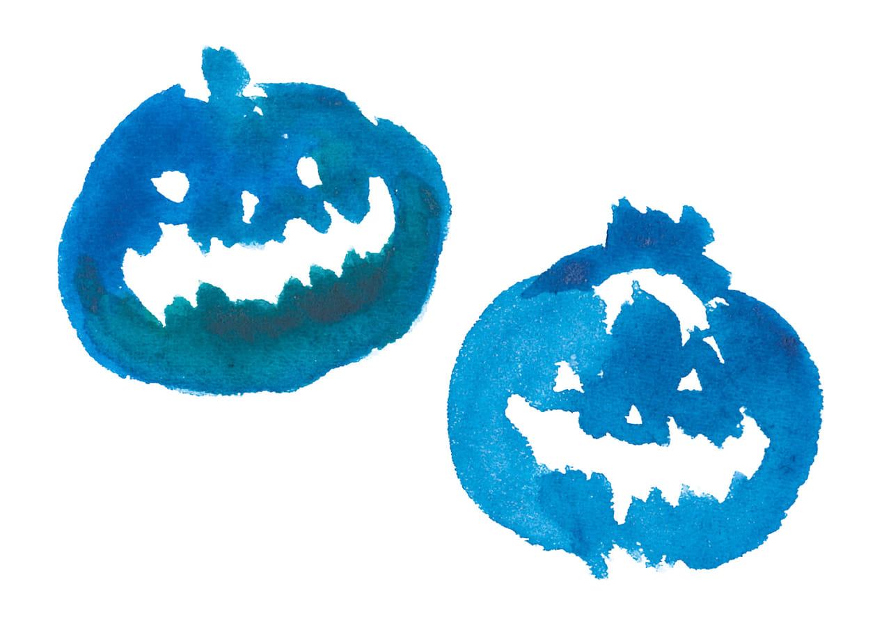 可愛いイラスト無料|水彩 ハロウィン かぼちゃ