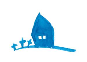 水彩 ハロウィン 建物 イラスト 無料