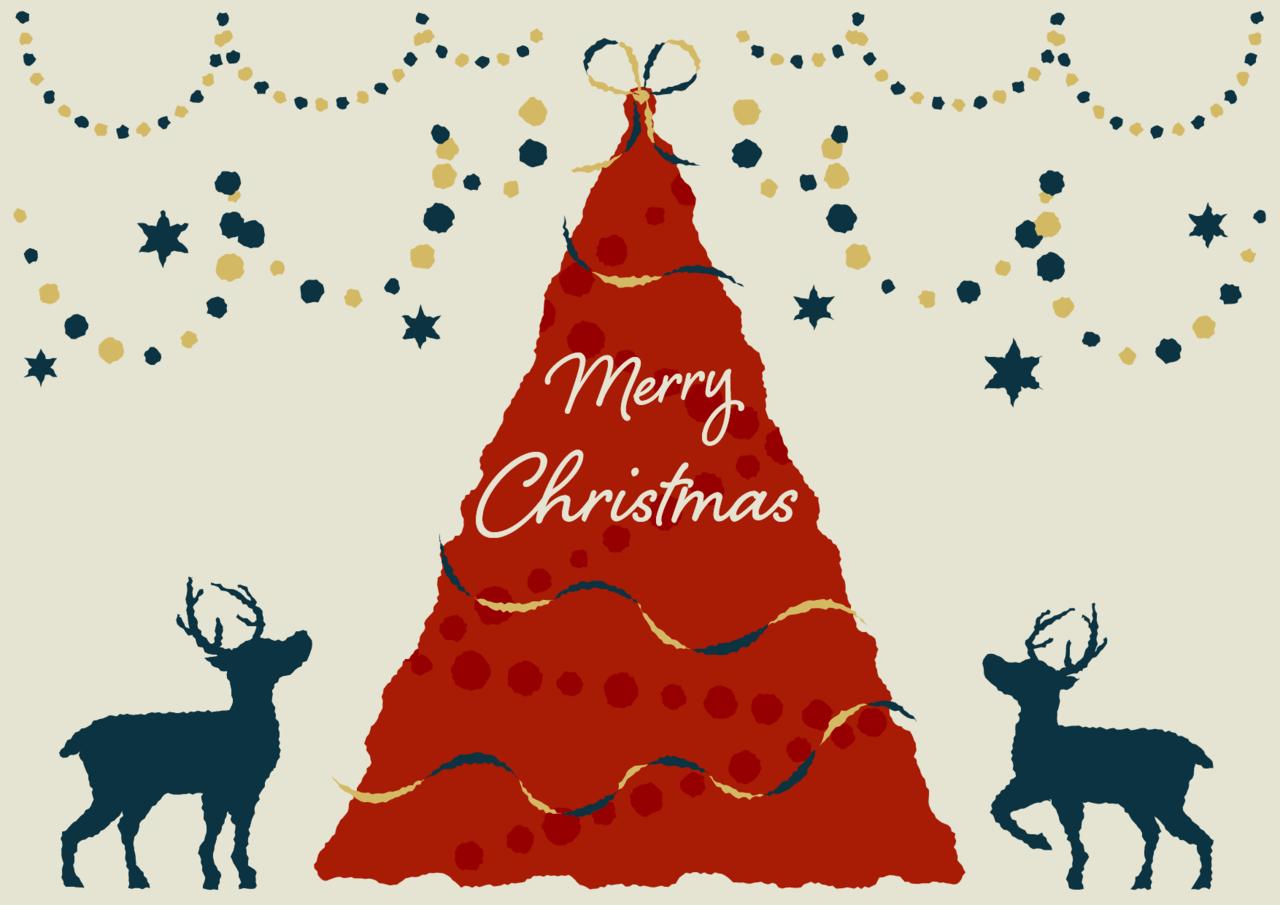 手書きイラスト無料|クリスマス ツリー ポスター