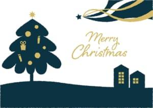 クリスマスツリー 流れ星 ポスター イラスト 無料