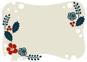 冬 植物 雪 フレーム イラスト 無料