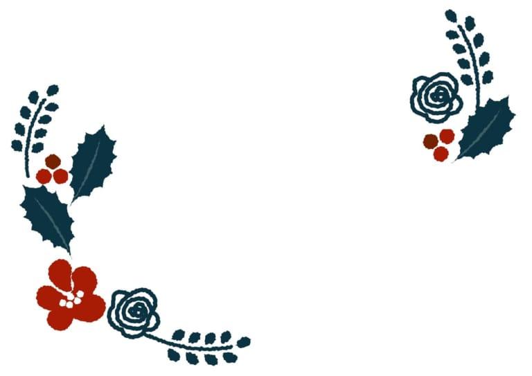 冬 植物 雪 フレーム 背景色なし イラスト 無料 無料イラストの