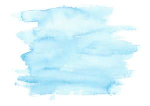 水彩 塗り 青色 イラスト 無料