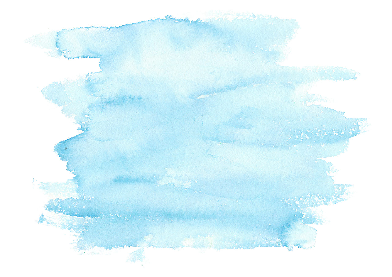 シンプルイラスト無料|水彩 塗り 青色