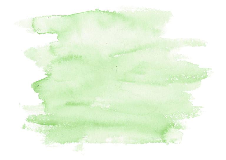 水彩 塗り 緑色 イラスト 無料