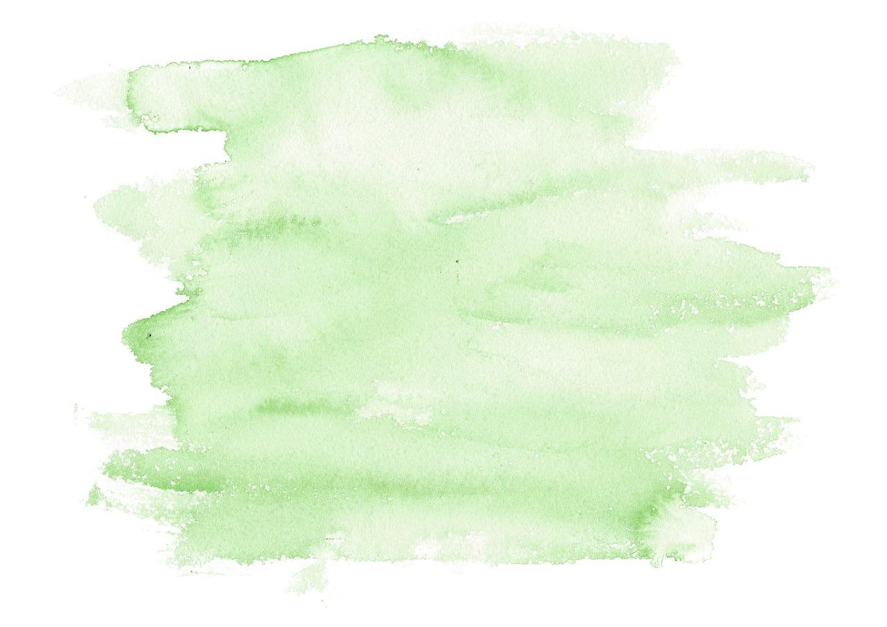 シンプルイラスト無料|水彩 塗り 緑色