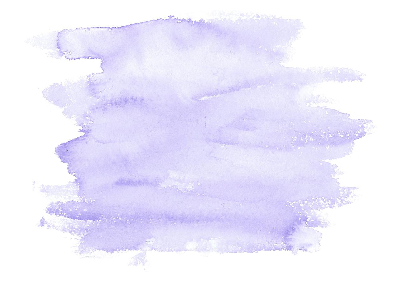 シンプルイラスト無料|水彩 塗り 紫色