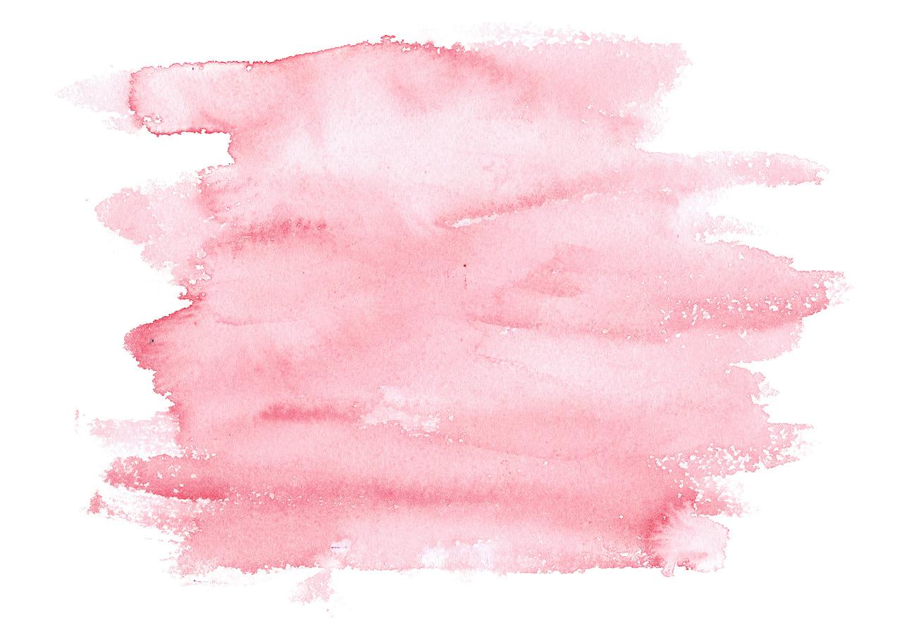 シンプルイラスト無料|水彩 塗り 赤色