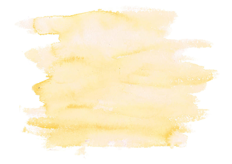 水彩 塗り 黄色 イラスト 無料