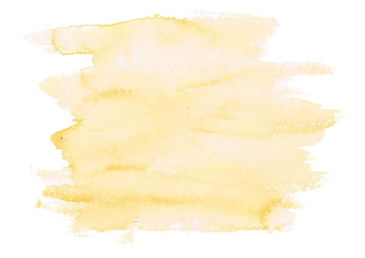 シンプルイラスト無料|水彩 塗り 黄色
