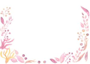 水彩 葉っぱ 背景 ピンク色 イラスト 無料