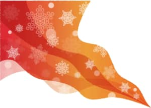 雪の結晶 風 グラデーション 背景 赤色 イラスト 無料