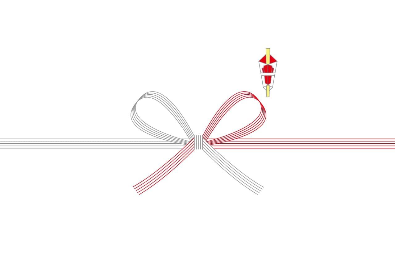 シンプルイラスト無料|のし紙 蝶結び 慶事 ベーシック